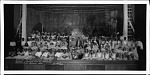 """Cast of """"The princess who could not dance"""", a spring play by Browne Junior High School, 1935 [cellulose acetate photonegative, banquet camera format]"""
