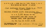 Our Authors Study Club Membership Card