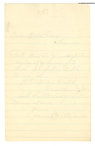 Letter from Jerome E. Williams to Crisis