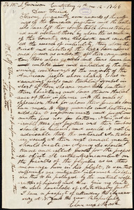 Letter from Chauncey Morse, Canterbury, [Conn.], to William Lloyd Garrison, [April] 12 - 1846