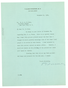 Letter from Valdo Turner to W. E. B. Du Bois