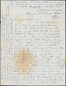 Letter from John Greenleaf Whittier, Lowell, [Massachusetts], to William Lloyd Garrison, 1844 [Septhember] 10th