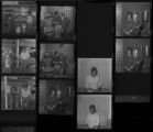 Set of negatives by Clinton Wright including Amanda Johnson, Reverend and Mrs. Wilson, and Freddie Little's Service Station, 1971