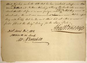 Adams, Samuel q.t. v. Winship, Nathan