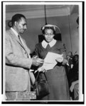 Clarence Mitchell, Director of the Washington Bureau, NAACP, and Mrs. Beatrice Young of Jackson, Mississippi, who testified before the Senate Subcommittee on Constitutional Rights last week
