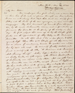Letter from William Lloyd Garrison, New York, to Helen Eliza Garrison, May 16 [i.e. 15], 1840
