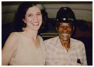 "[Photograph of Marcia Ball with Clarence ""Gatemouth"" Brown]"