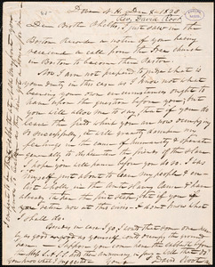Letter from David Root, Dover, to Amos Augustus Phelps, Dec 4 - 1838