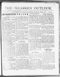 The Western Outlook (San Francisco and Oakland, Calif.), Vol. 34, No. 28, Ed. 1 Saturday, April 14, 1928 The Western Outlook