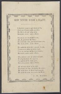 God never made a slave