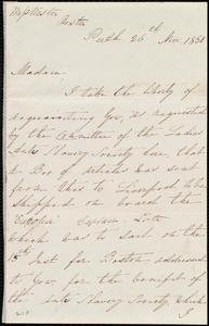 Letter from Charlotte A. Morton, Perth, [Scotland], to Miss Weston, 26th Nov. 1850