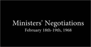 Ministers' Negotiations Part 2, February 18th 1968