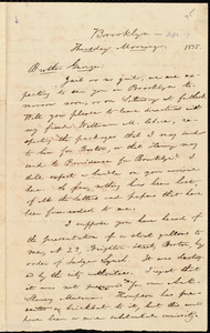Letter from William Lloyd Garrison, Brooklyn, [Conn.], to George William Benson, Thursday Morning, [Sept. 17], 1835