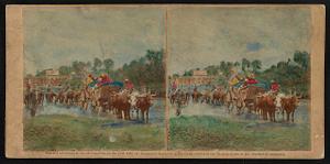Fugitive negroes fording Rappahannock