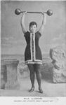 Mlle. LeZetora : Colored lady athlete ; Heavy weight act