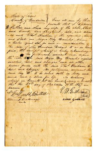 Agreement for sale of slave named Hercules