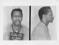 Mississippi State Sovereignty Commission photograph of Lawrence Triss, Jr. following his arrest for his participation in the Freedom Rides, Jackson, Mississippi, 1961 June 20