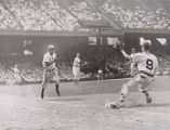 Jackie Robinson running the bases against the Phillies