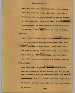 News Script: Negro housing NBC News Scripts