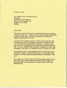 Letter from Mark H. McCormack to Antonio Carlos de Almeida Braga