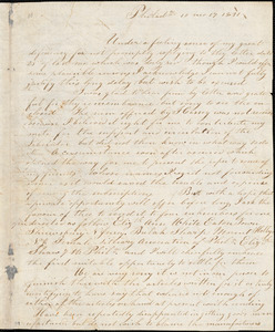 Letter from Lydia White, Philad[elphi]a, [Pennsylvania], to William Lloyd Garrison, 1831 [October] 17