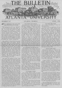 The Bulletin of Atlanta University, April 1906 no. 163, Atlanta, Georgia