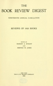 Book review digest, 1923 v.19