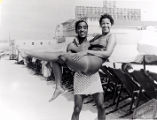 Sammy Davis, Jr. on Chicken Bone Beach in Atlantic City, New Jersey