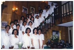 Links Women Gathered in Staircase at Member Induction Ceremony San Antonio Chapter of Links Records