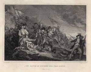 The Battle at Bunker's Hill Near Boston. June 17, 1775.