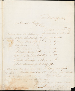Letter from Henry Egbert Benson, Prov[idenc]e, [Rhode Island], to William Lloyd Garrisona and Isaac Knapp, 1833 Oct[obe]r 29th