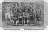Al Hall with other officers at Camp Hancock, Georgia, 1918