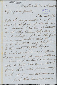 Letter from Eliza Wingham, Gray Street, Edin[burgh, Scotland], to William Lloyd Garrison, [18]48 [November] 13th