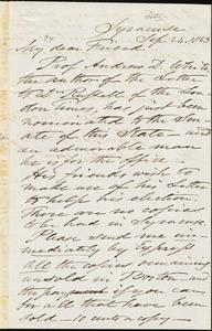 Letter from Samuel Joseph May, Syracuse, [N.Y.], to Robert Folger Wallcut, Sep[tember] 24, 1863
