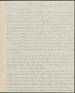 Letter from William Lloyd Garrison, Roxbury, [Mass.], to Samuel May, Oct. 25, 1868