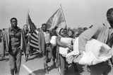 Marchers on U.S. Highway 80 during the Selma to Montgomery March.