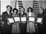 California Association of Black Lawyers members holding certificates, Los Angeles, 1983