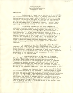 Circular letter from Lee Lorch to unidentified correspondent