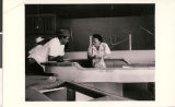 Photograph of Ike Rome, Cliff [Porter or Parker], and Florence Elmore at Town Tavern