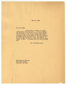 Letter from W. E. B. Du Bois to Leona A. Herbert