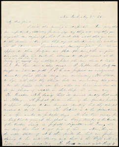 Letter from Abby Kelley Foster, New York, to Maria Weston Chapman, May 3'd, 1843
