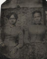 Tintype of two unidentified African American women.