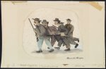Posse pursuing a runaway slave