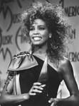 Whitney Houston with American Music Award
