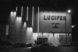 "B. B. King: """"Lucifers"""" in Boston, Mass. B. B. King in dressing room, marquee (BKP 14-76-5)"