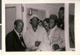 Photograph of Theron Goynes with Bill Cosby and Lou Rawls, circa 1980