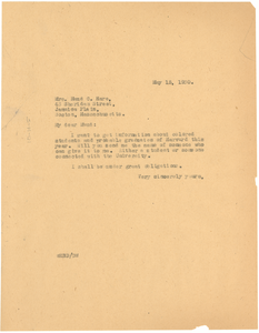 Letter from W. E. B. Du Bois to Maud Cuney Hare