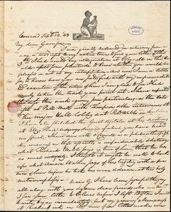 Letter from Nathaniel Peabody Rogers, Concord, [New Hampshire], to William Lloyd Garrison, 1843 Sept[ember] 14