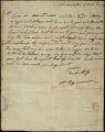 Big Warrior (Creek Agency) letter to Mr. Lewis, 1818