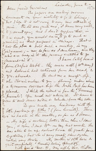 Letter from Samuel May, Jr., Leicester, [Mass.], to William Lloyd Garrison, June 8. [1874]